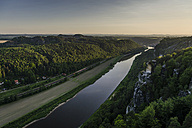 Germany, Saxony, Saxon Switzerland, View from the Bastei, Elbe river - PAF000895