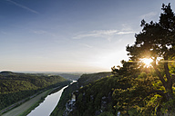 Germany, Saxony, Saxon Switzerland, View from the Bastei, Elbe river - PAF000893