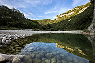 France, Rhone-Alpes, Ibie river at Gorges de l'Ardeche Nature Reserve - STSF000470