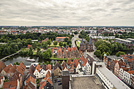 Germany, Lubeck, View over historic city with Holsten Gate - KRPF001063