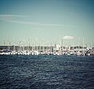 Germany, Schleswig-Holstein, Kiel, Marina and sailing boats - KRPF001060