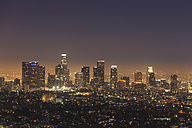 USA, California, Los Angeles, Skyline in the evening - FOF006941