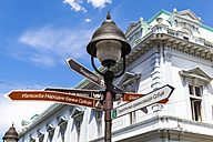 Serbia, Belgrade, Sign post in Knez Mihailjova Street - AMF002804