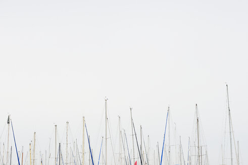 USA, California, San Francisco, masts and grey sky - BRF000742