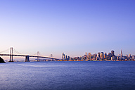 USA, California, San Francisco, Oakland Bay Bridge in morning light - BRF000776