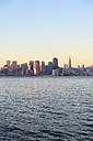 USA, California, San Francisco, skyline of financial district in morning light - BRF000784