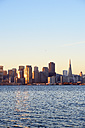 USA, California, San Francisco, skyline of financial district with Transamerica Pyramid in morning light - BR000675