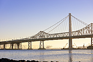 USA, California, San Francisco, Oakland Bay Bridge in morning sun - BR000717