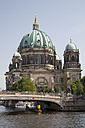 Germany, Berlin, view to Berlin Cathedral with Spree River in the foreground - WI001008
