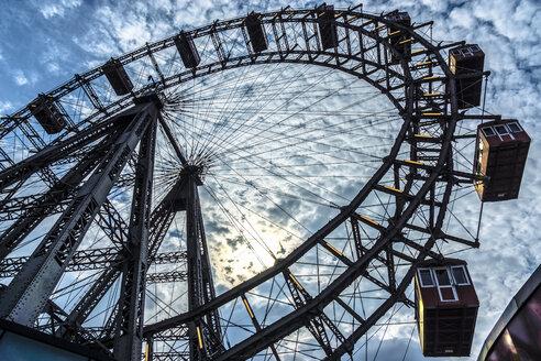 Austria, Vienna, Prater, Viennese giant wheel against the sun - WEF000218