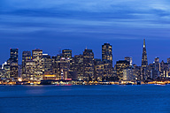 USA, California, San Francisco, Skyline in the evening - FOF007050