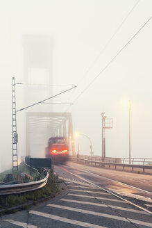 Germany, Hamburg, Traffic crossing a bridge - MSF004275