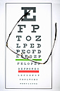 Sight test chart and glasses - ZEF000621