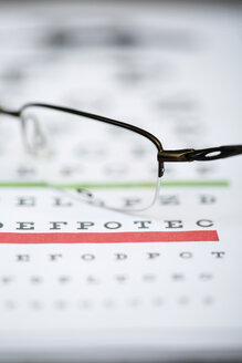 Sight test chart and glasses - ZEF000622