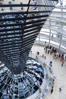 Germany, Berlin, interior of the glass dome on the top of the Reichstag building - PS000653