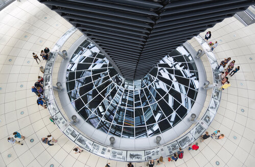 Germany, Berlin, interior of the glass dome on the top of the Reichstag building - PS000654