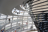 Germany, Berlin, interior of the glass dome on the top of the Reichstag building - PS000655