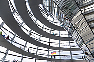 Germany, Berlin, interior of the glass dome on the top of the Reichstag building - PS000656