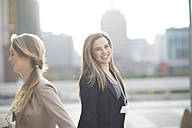 Portrait of smiling businesswoman - ZEF000242