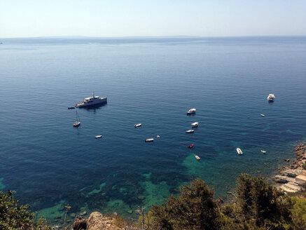 Spain, Ibiza, near Es Cubells, bay of