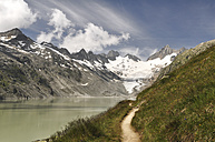 Switzerland, Canton of Bern, Bernese Alps, Upper Aare-Lake and Upper Aare-Glacier, trail - SCH000410