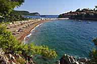 Montenegro, beach at Sveti Stefan - ES001357
