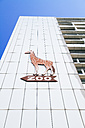 Germany, Berlin, Berlin Zoological Garden, Logo on facade - KRP001112