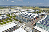 Germany, Bavaria, Munich, aerial view of Munich airport - KD000013