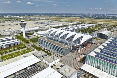 Germany, Bavaria, Munich, aerial view of Munich airport - KD000013