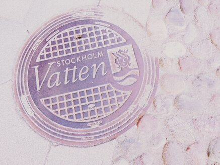 Sweden, Stockholm, Manhole cover - RIMF000288