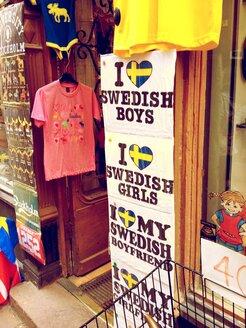 Sweden, Stockholm, Souvenir shop in Gamla Stan - RIM000289