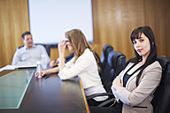 Confident businesswoman in a meeting - ZEF000272