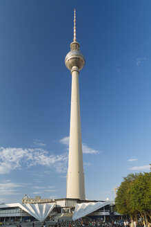 Germany, Berlin, view to television tower at Alexanderplatz - KRPF001131