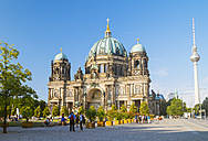 Germany, Berlin, view to Berlin cathedral and television tower - KRPF001162