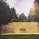 Empty bench in garden - LVF001911