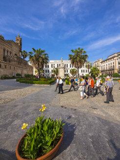 Italy, Sicily, Palermo, cathedral Maria Santissima Assunta and Liceo classico Vittorio Emanuele II - AM002847