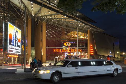 Germany, Berlin, stretched limousine at casino Potsdamer Platz - WI001069