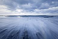 New Zealand, South Island, Hokitika, sundown at ocean - WV000728