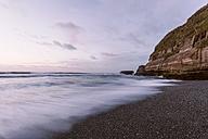New Zealand, South Island, Punakaiki, sunset over beach - WV000733