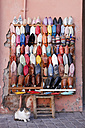 Morocco, Marrakesh, shoes on souk - RIM000296