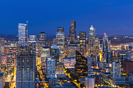 USA, Washington State, Seattle, Cityscape, Blue hour - FOF007130