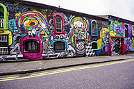 Ireland, Cork, graffitis at wall - THA000741