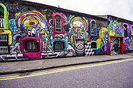 Ireland, Cork, graffitis at wall - THA000741