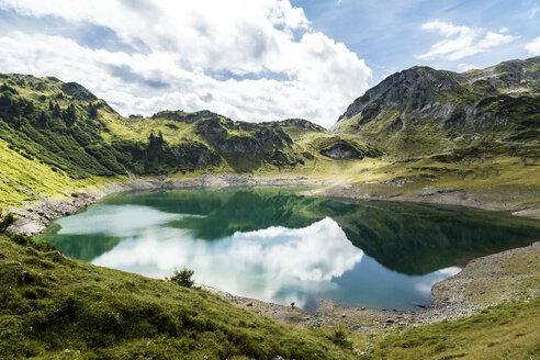 Austria, Vorarlberg, Lechtal Alps, Lechquellen Mountains, Lake Formarinsee - STSF000519