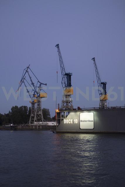 Germany, Hamburg, Port of Hamburg, Dock 10 Blohm and Voss at the Elbe river - KB000178