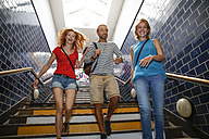 Germany, Berlin, Friends going out together - FKF000661