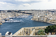 Malta, Valletta, view on the cities Cospicua, Senglea and the Vittoriosa Yacht Marina - WEF000239