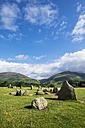 United Kingdom, England, Cumbria, Lake District, Castlerigg stone circle - ELF001293