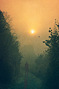Silhouette of a man at morning light - DWI000214