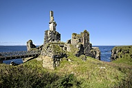 United Kingdom, Scotland, Wick, Northeast Coast, Ruin Castle Sinclair Girnigoe - ELF001360